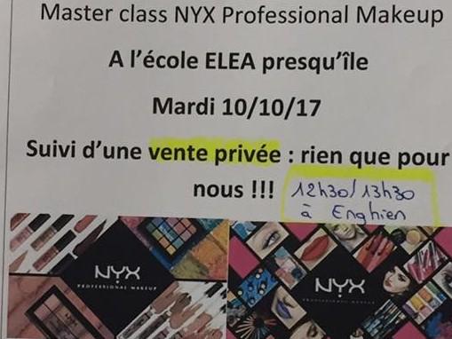 Une vente privée à l'école d'esthétique ELEA