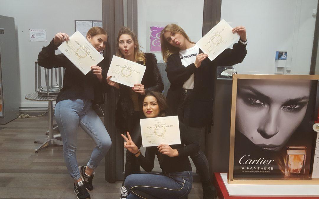 Remise des diplômes d'esthétique à ELEA